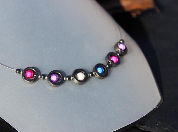 Kette aus Hämatit und miracle beads